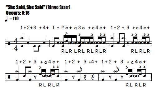 "Drum beatles drum tabs : She Said, She Said"" Drum Fills - Free Video Drum Lesson (The ..."