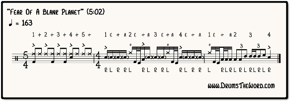 Fear Of A Blank Planet Fill Notation (Gavin Harrison & Porcupine Tree)
