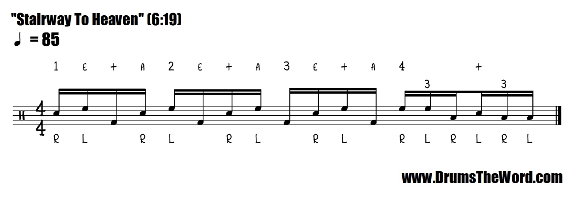 Stairway To Heaven SIMPLIFIED Drum Fill Notation (John Bonham & Led Zeppelin)