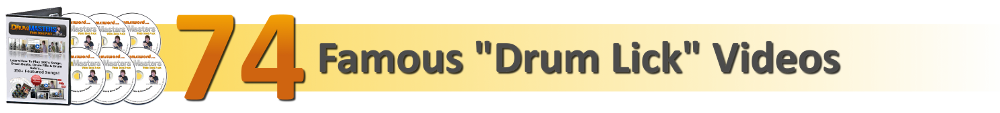 74 Famous Drum Beat, Fill & Solo Video Drum Lessons