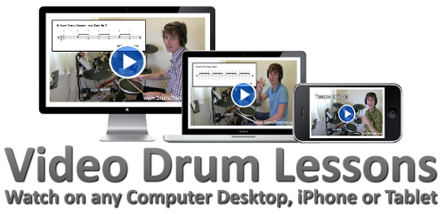 MP4 Video Drum Lessons