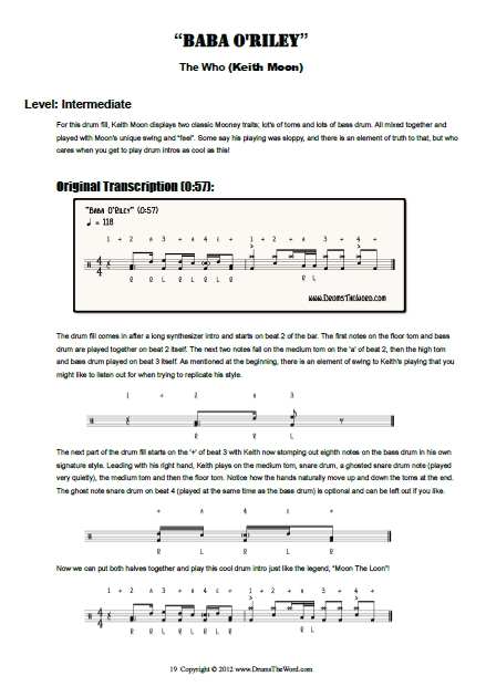 Drum drum tabs for whom the bell tolls : eBooks Drum Pack | DrumsTheWord.com
