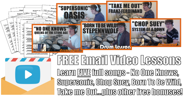 Free Email Video Drum Lessons - DrumsTheWord.com