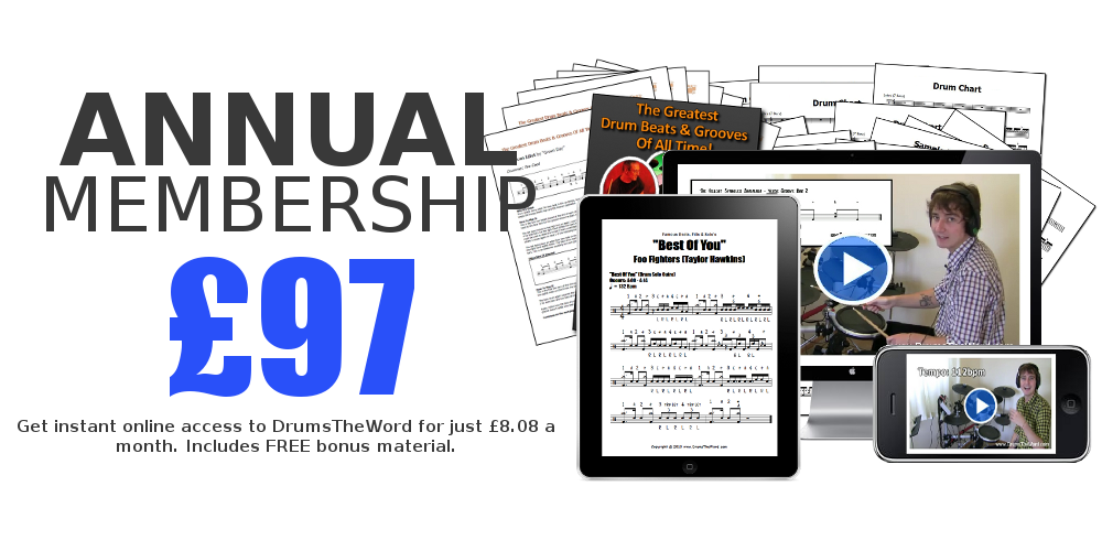 Drumstheword full song video drum lessons charts click here to get started fandeluxe Choice Image