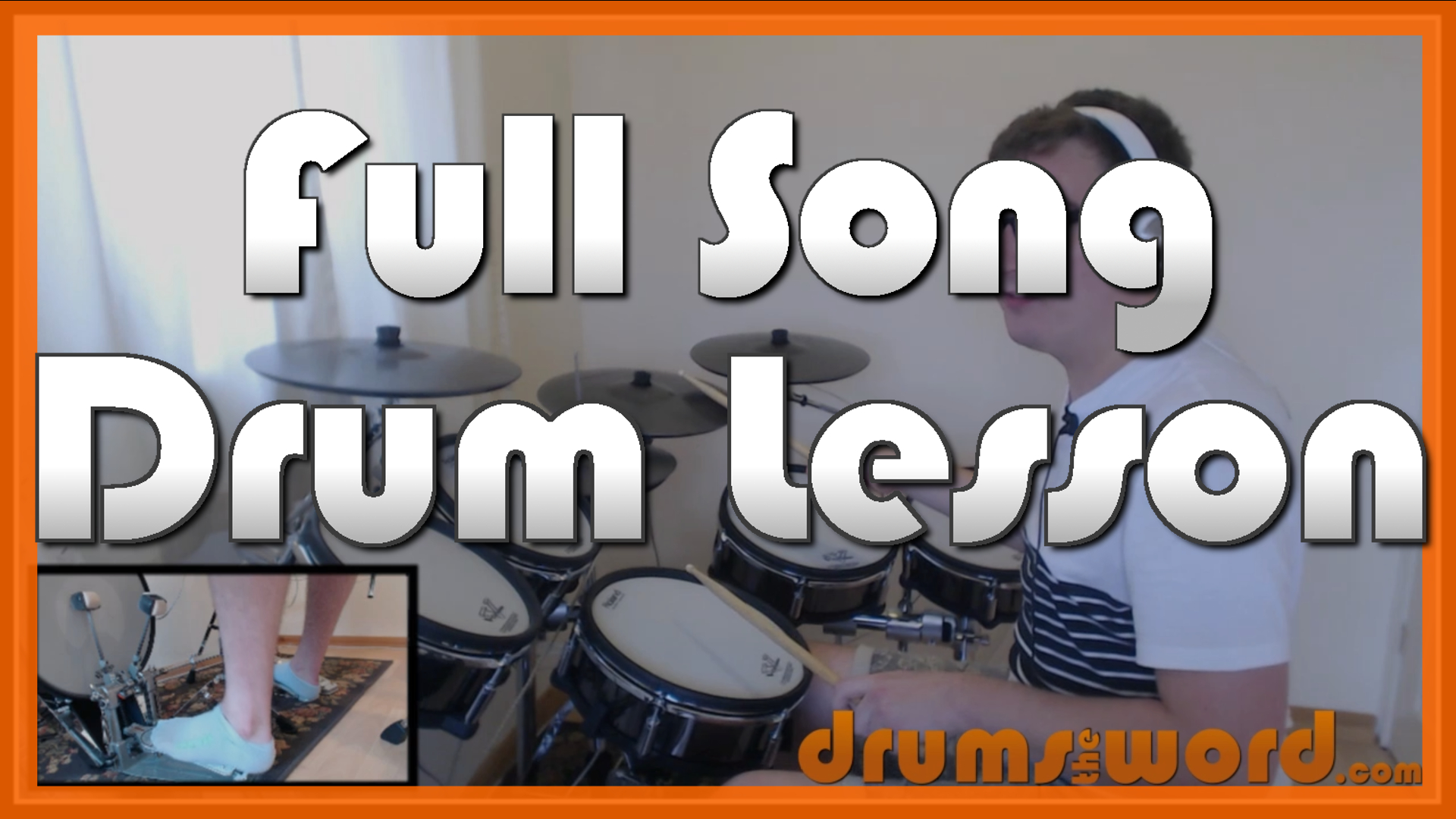 """""""Fix You"""" - (Coldplay) Full-Song Video Drum Lesson Notation Chart Transcription Sheet Music Drum Lesson"""
