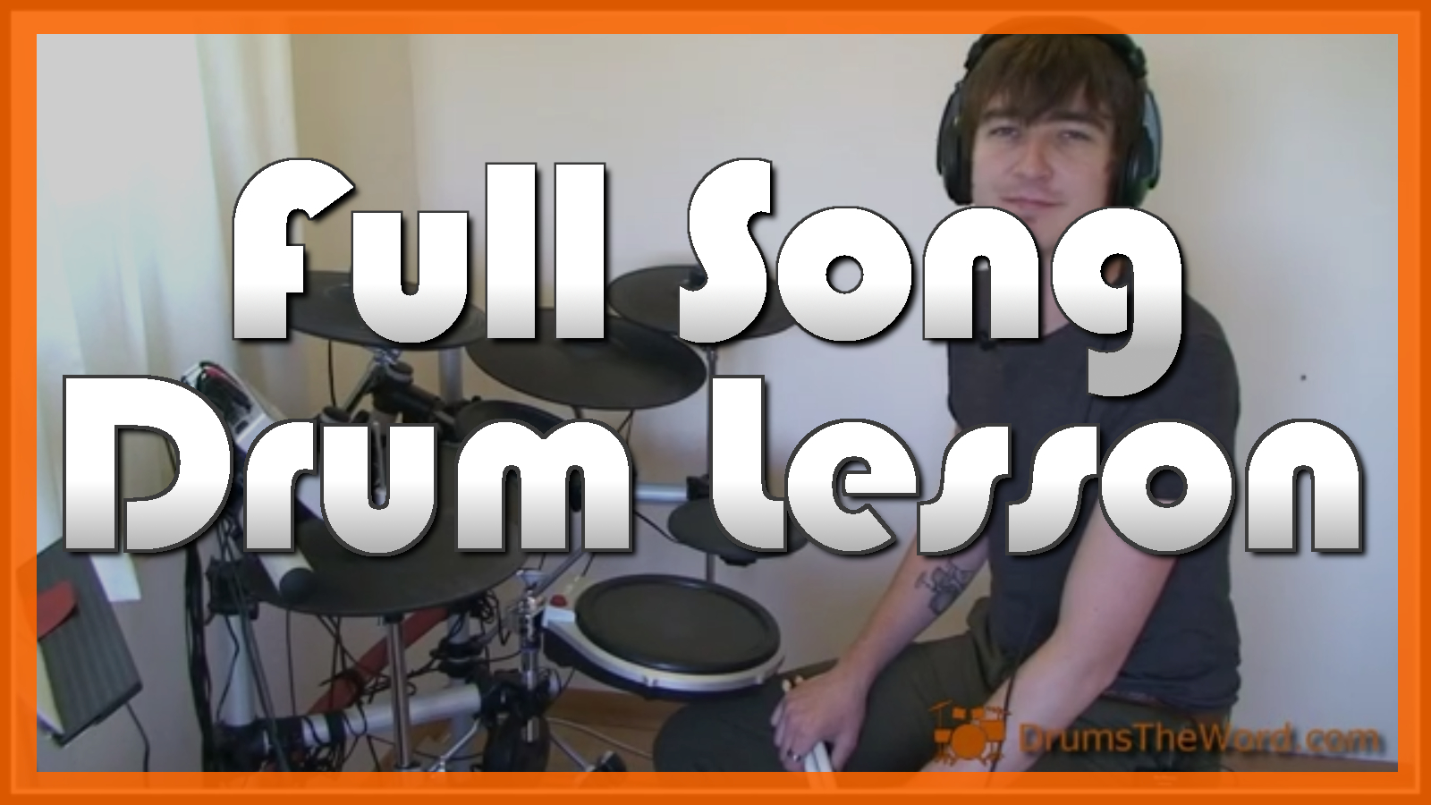 """""""Get Back"""" - (The Beatles) Full-Song Video Drum Lesson Notation Chart Transcription Sheet Music Drum Lesson"""