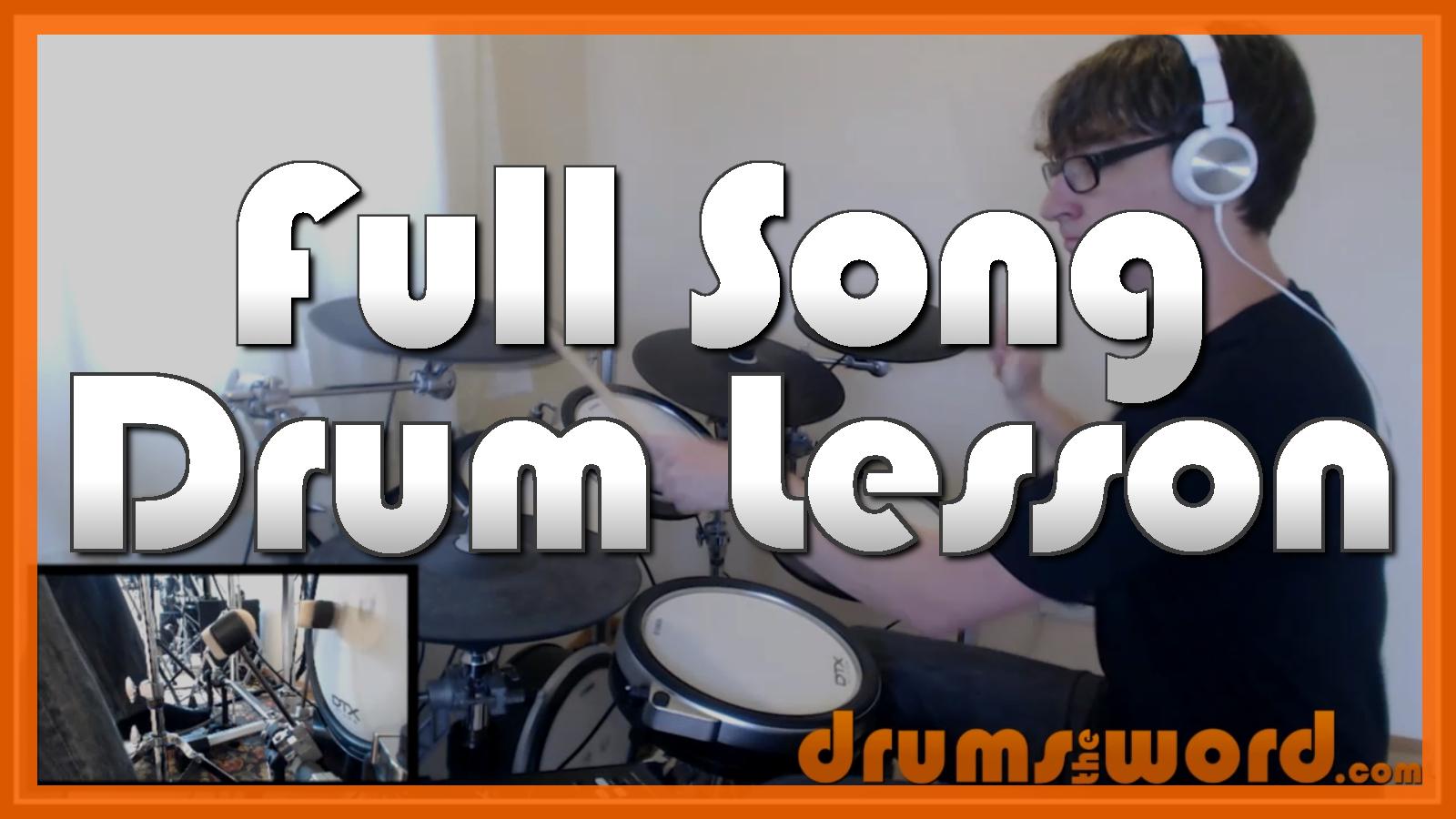 """Go"" - (Pearl Jam) Full-Song Video Drum Lesson Notation Chart Transcription Sheet Music Drum Lesson"
