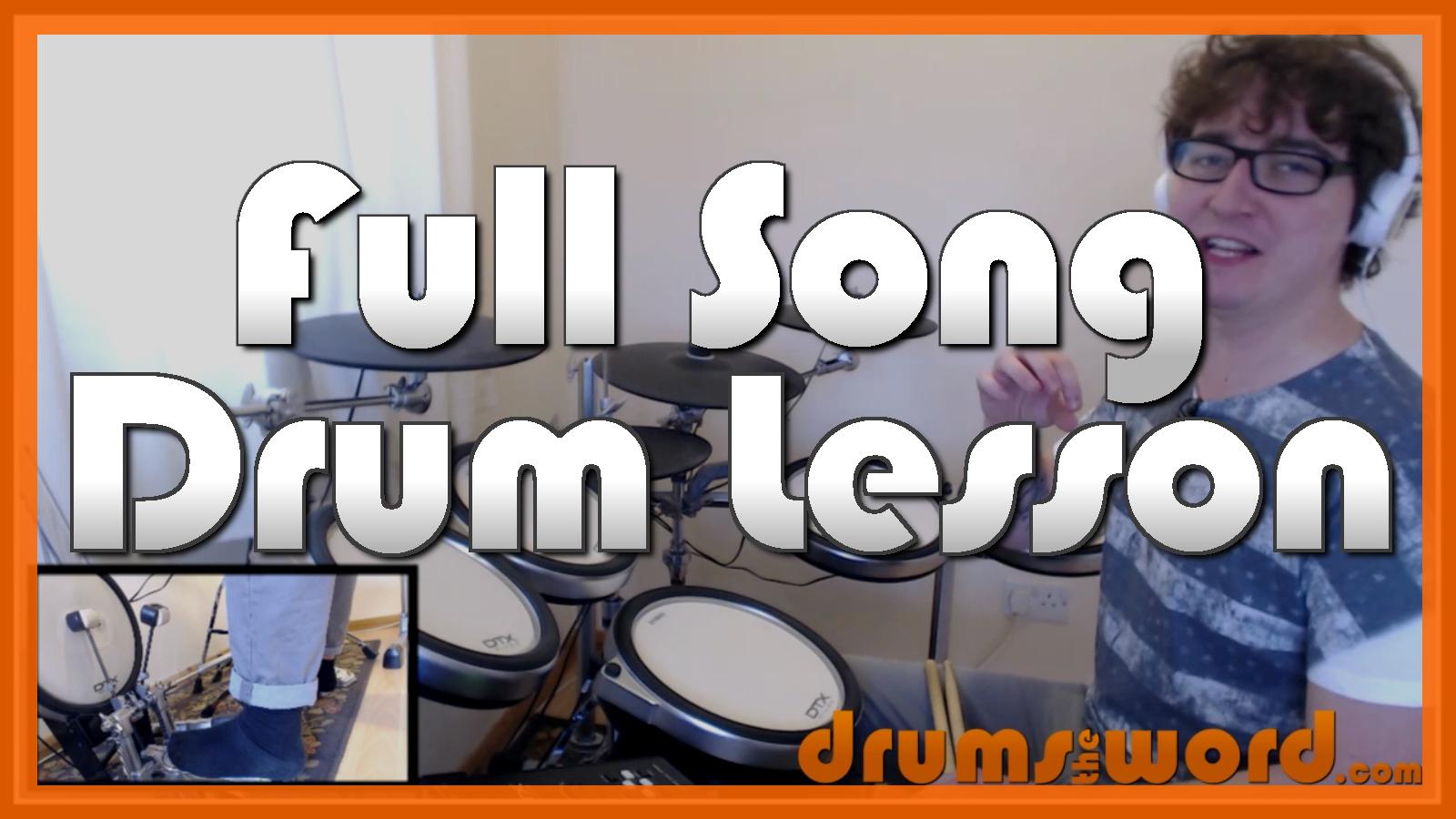 """Heart Shaped Box"" - (Nirvana) Full-Song Video Drum Lesson Notation Chart Transcription Sheet Music Drum Lesson"