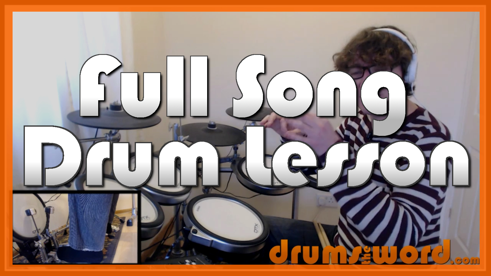 """Livin' On A Prayer"" - (Bon Jovi) Full-Song Video Drum Lesson Notation Chart Transcription Sheet Music Drum Lesson"