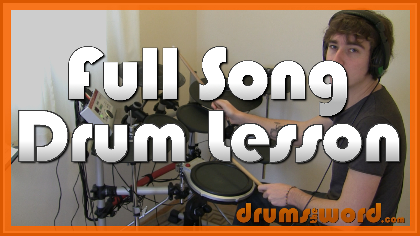 """""""Lounge Act"""" - (Nirvana) Full-Song Video Drum Lesson Notation Chart Transcription Sheet Music Drum Lesson"""