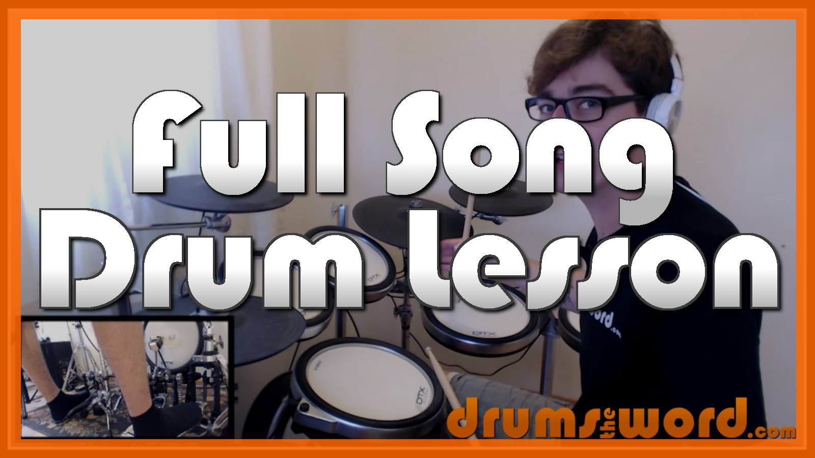 """""""More Than A Feeling"""" - (Boston) Full-Song Video Drum Lesson Notation Chart Transcription Sheet Music Drum Lesson"""
