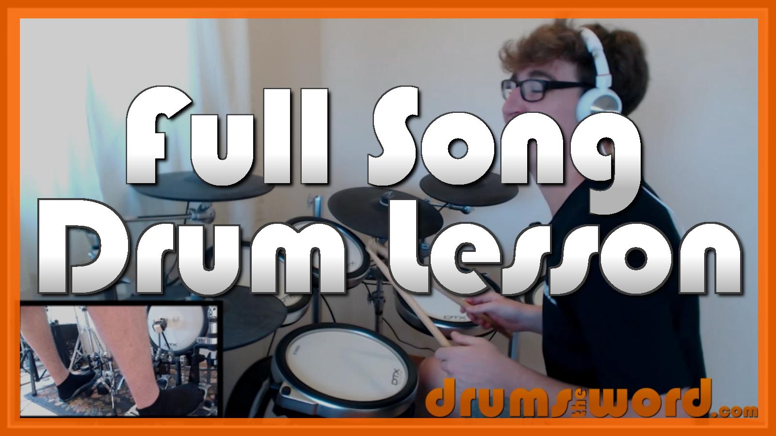 """Never Tear Us Apart"" - (INXS) Full-Song Video Drum Lesson Notation Chart Transcription Sheet Music Drum Lesson"
