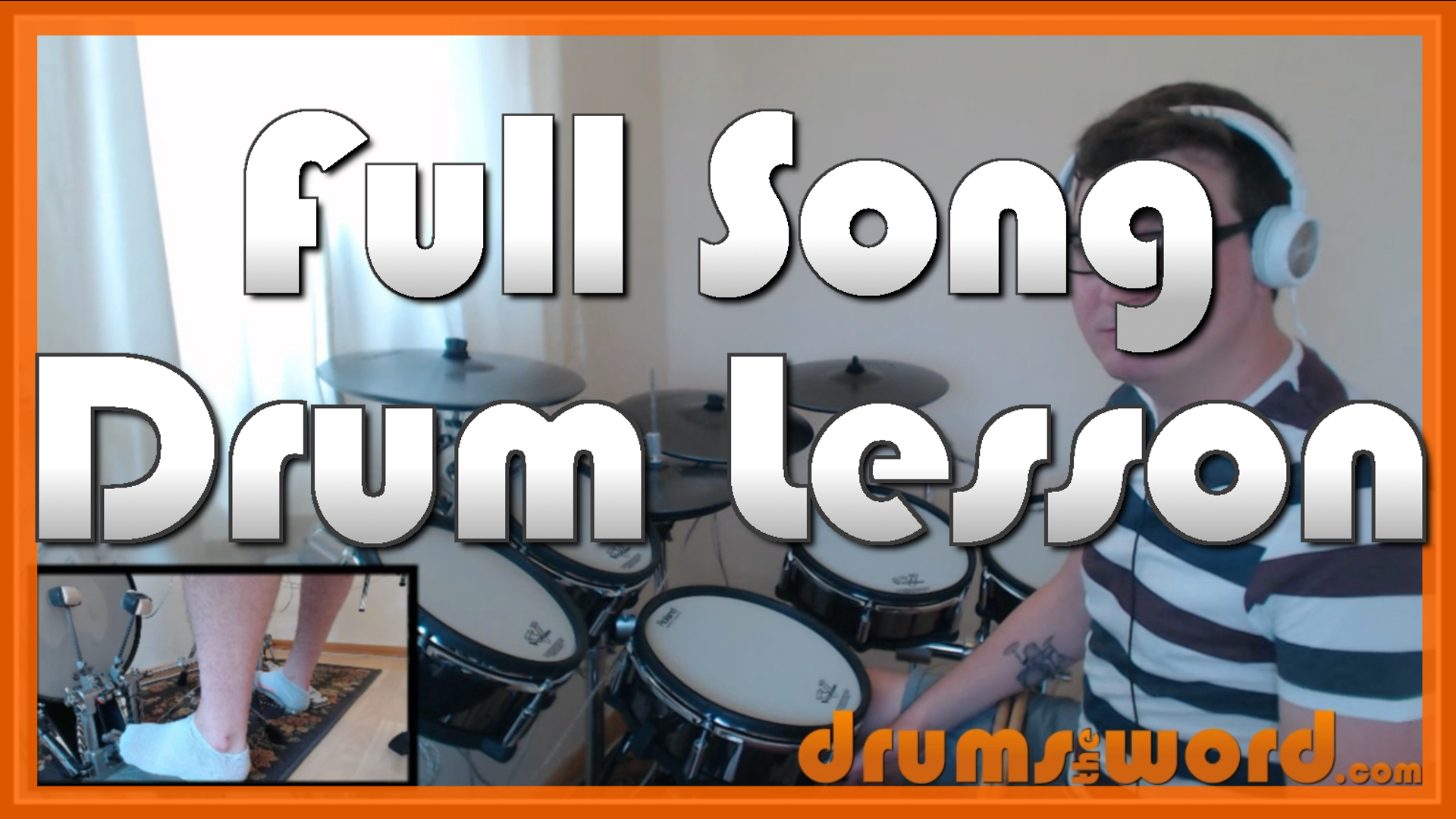 """""""Nice To Know You"""" - (Incubus) Full-Song Video Drum Lesson Notation Chart Transcription Sheet Music Drum Lesson"""