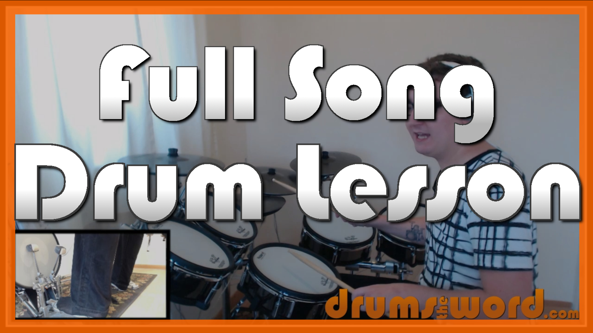 """""""Place Your Hands On Me"""" - (Reef) Full-Song Video Drum Lesson Notation Chart Transcription Sheet Music Drum Lesson"""
