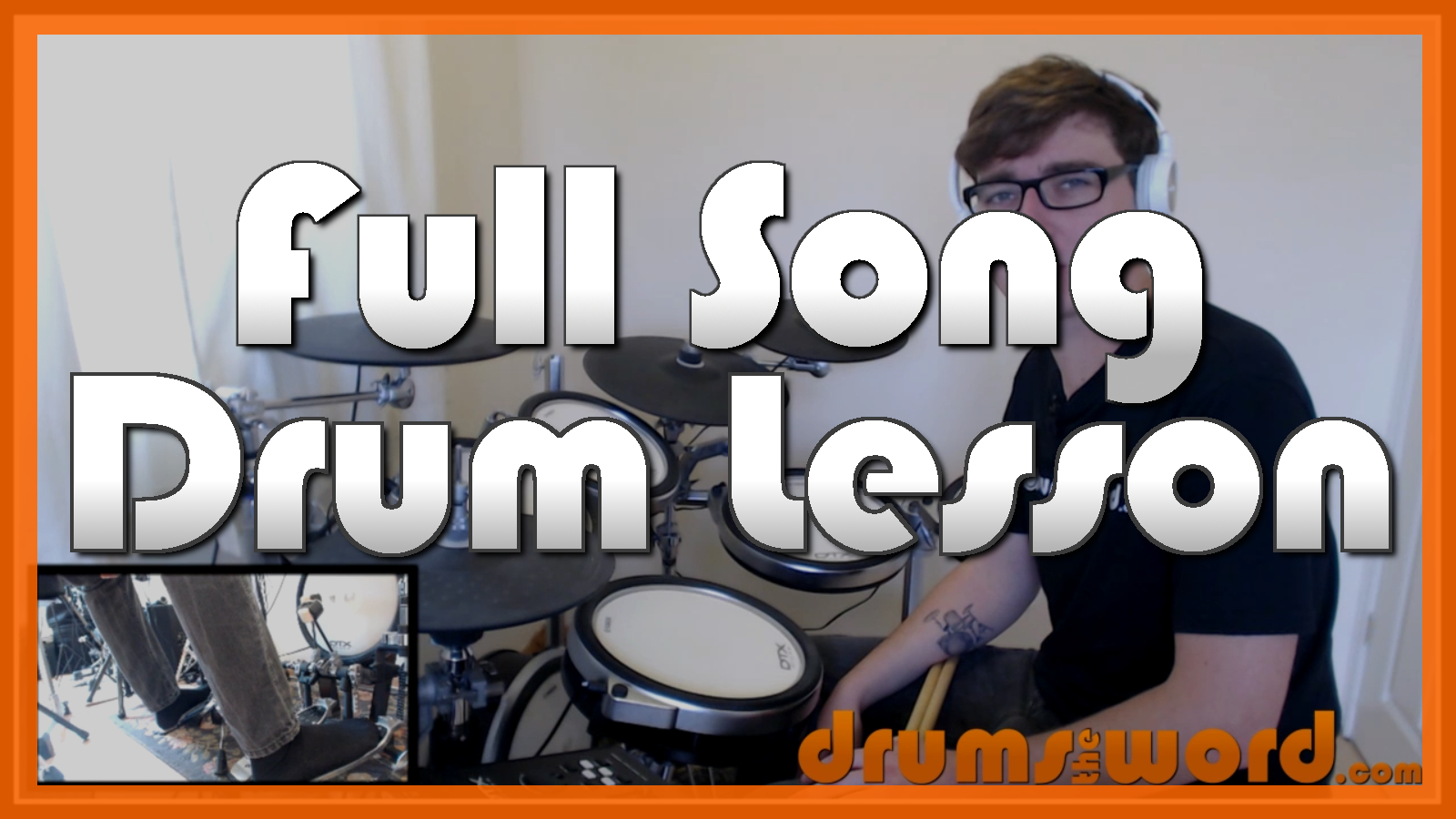 """""""Sex On Fire"""" - (Kings Of Leon) Full-Song Video Drum Lesson Notation Chart Transcription Sheet Music Drum Lesson"""