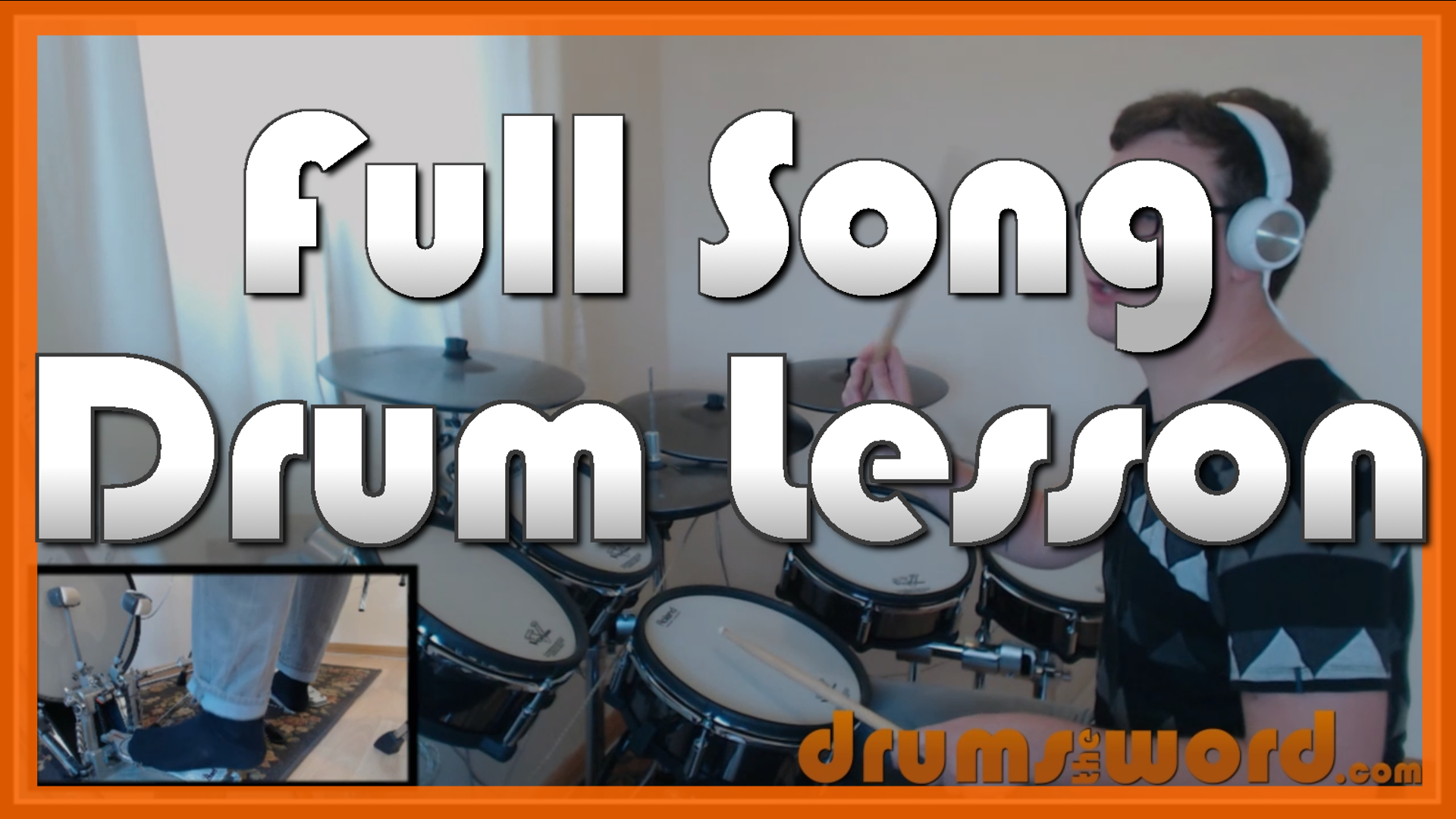 """""""Welcome To The Black Parade"""" - (My Chemical Romance) Full-Song Video Drum Lesson Notation Chart Transcription Sheet Music Drum Lesson"""