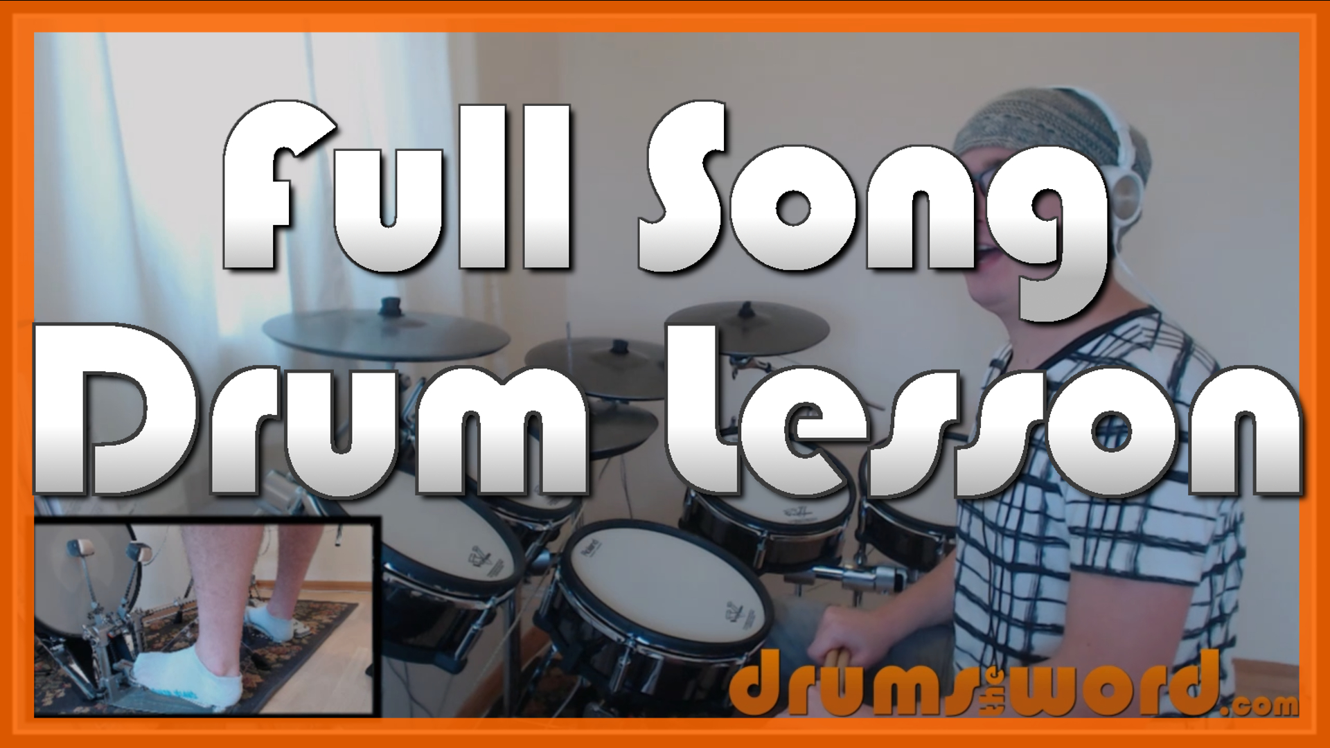 """""""Buddy Holly"""" - (Weezer) Full-Song Video Drum Lesson Notation Chart Transcription Sheet Music Drum Lesson"""