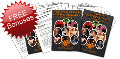 Play 100s of famous & popular songs on drums with DrumsTheWord - Full Song Video Drum Lessons & Transcriptions