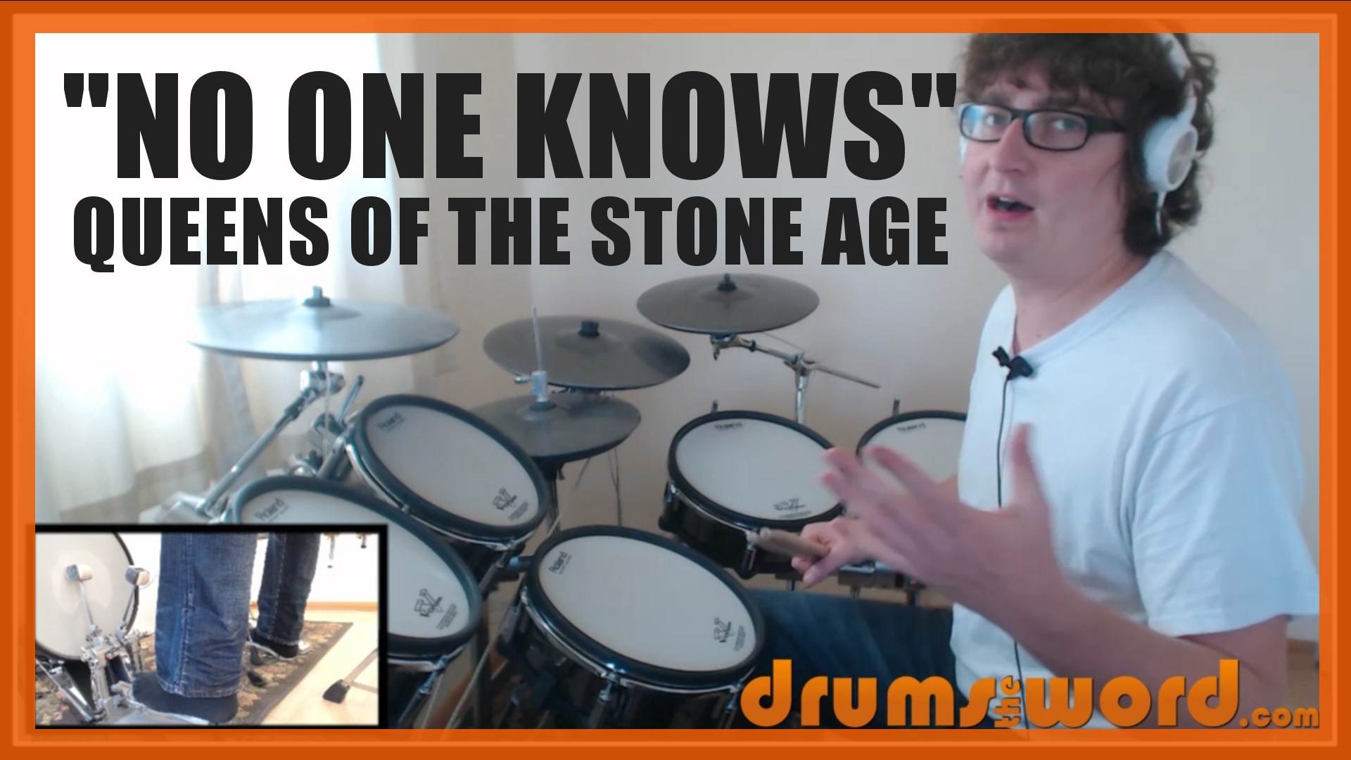 """""""No One Knows"""" - (Queens Of The Stone Age) Full-Song Video Drum Lesson Notation Chart Transcription Sheet Music Drum Lesson"""