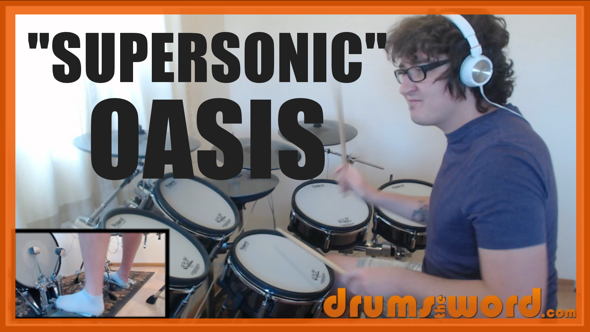 """""""Supersonic"""" - (Oasis) Full-Song Video Drum Lesson Notation Chart Transcription Sheet Music Drum Lesson"""