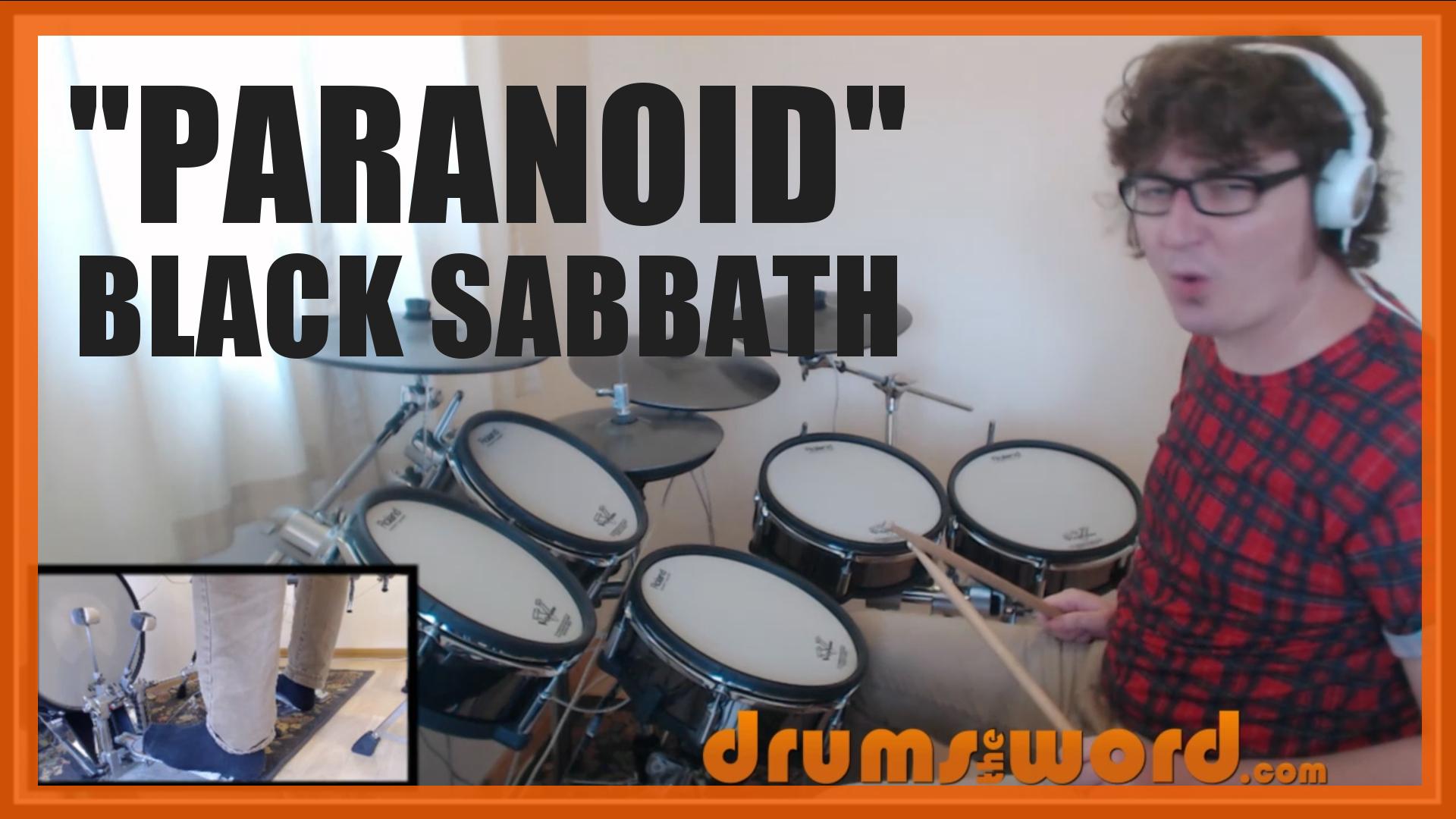 """Paranoid"" - (Black Sabbath) Full-Song Video Drum Lesson Notation Chart Transcription Sheet Music Drum Lesson"