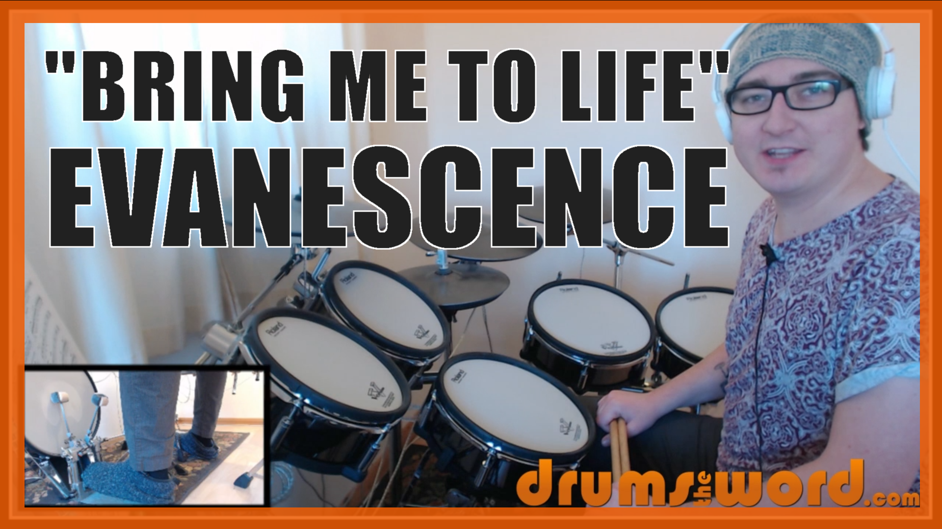 """Bring Me To Life"" - (Evanescence) Full-Song Video Drum Lesson Notation Chart Transcription Sheet Music Drum Lesson"