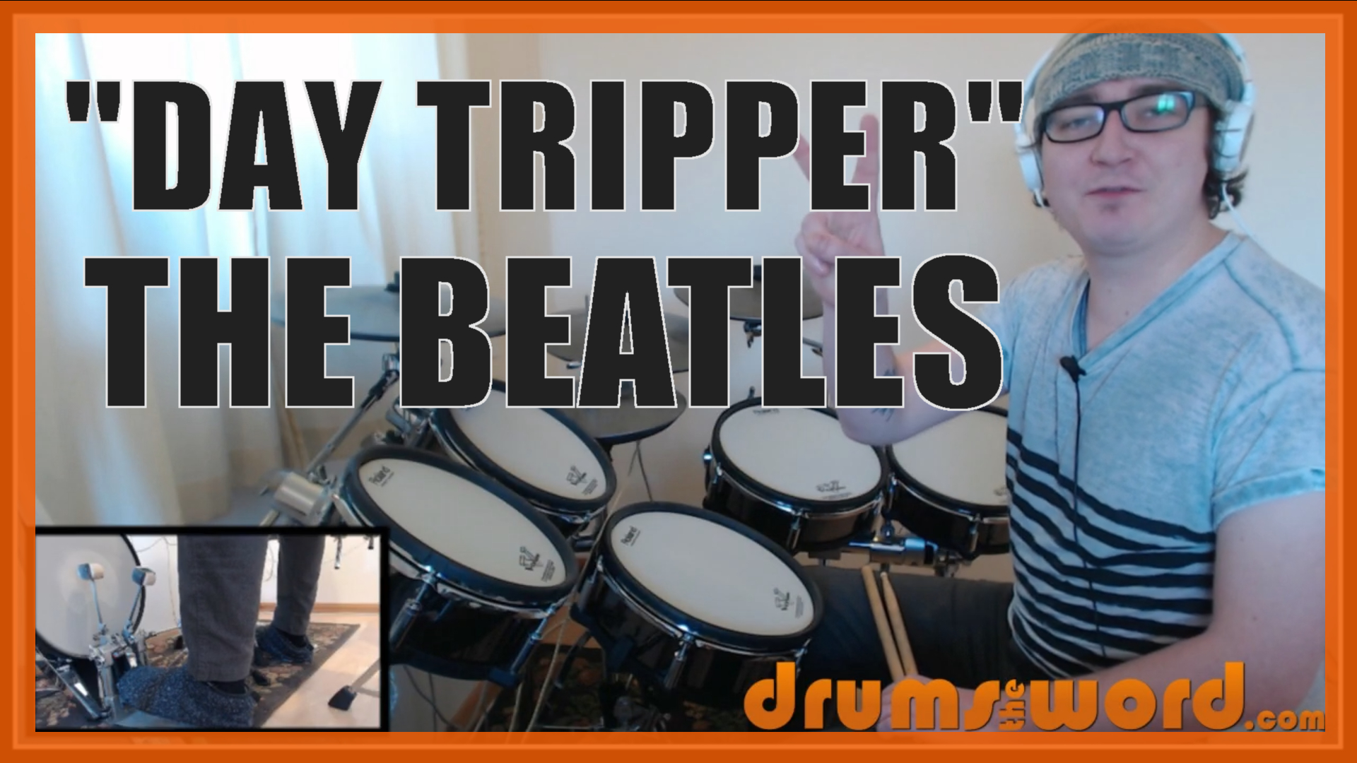 """""""Day Tripper"""" - (The Beatles) Full-Song Video Drum Lesson Notation Chart Transcription Sheet Music Drum Lesson"""