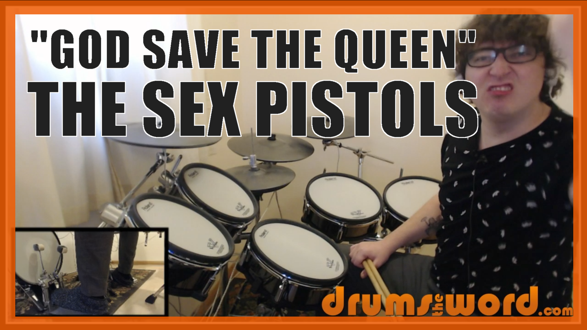 """""""God Save The Queen"""" - (The Sex Pistols) Full-Song Video Drum Lesson Notation Chart Transcription Sheet Music Drum Lesson"""