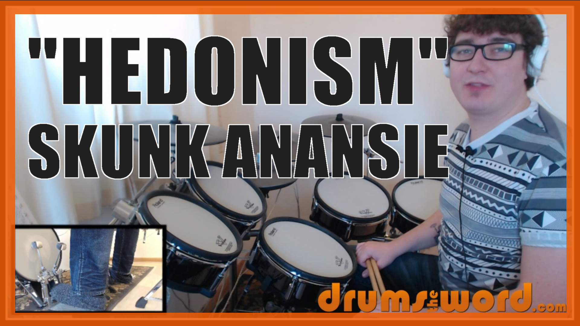 """""""Hedonism"""" - (Skunk Anansie) Full-Song Video Drum Lesson Notation Chart Transcription Sheet Music Drum Lesson"""