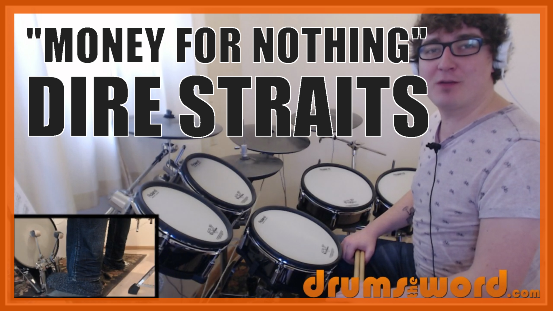"""""""Money For Nothing"""" - (Dire Straits) Full-Song Video Drum Lesson Notation Chart Transcription Sheet Music Drum Lesson"""