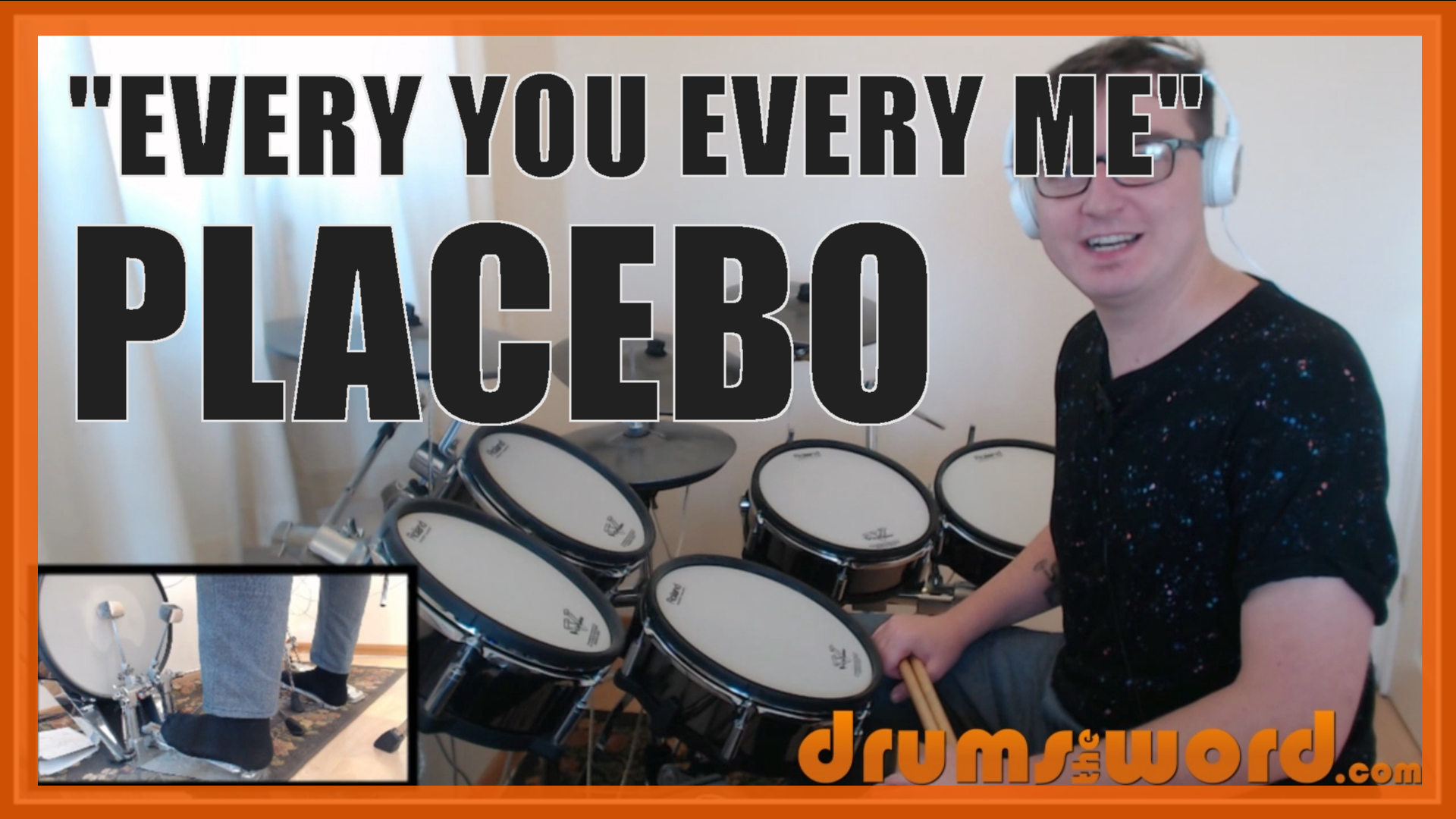 """""""Every You And Every Me"""" - (Placebo) Full-Song Video Drum Lesson Notation Chart Transcription Sheet Music Drum Lesson"""