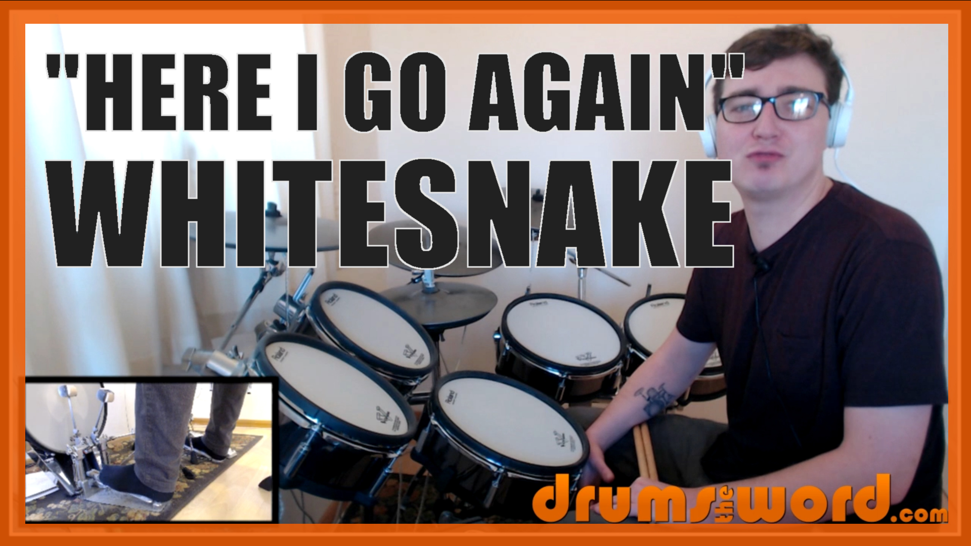 """""""Here I Go Again"""" - (Whitesnake) Full-Song Video Drum Lesson Notation Chart Transcription Sheet Music Drum Lesson"""