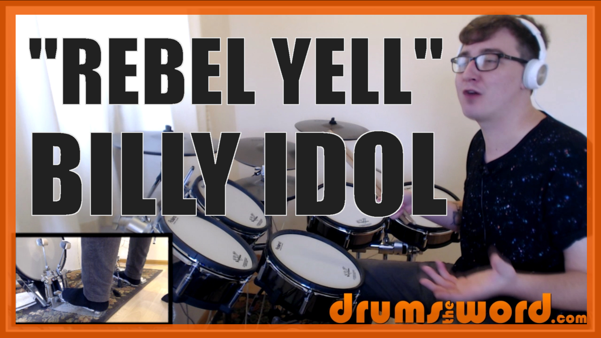 """""""Rebel Yell"""" - (Billy Idol) Full-Song Video Drum Lesson Notation Chart Transcription Sheet Music Drum Lesson"""