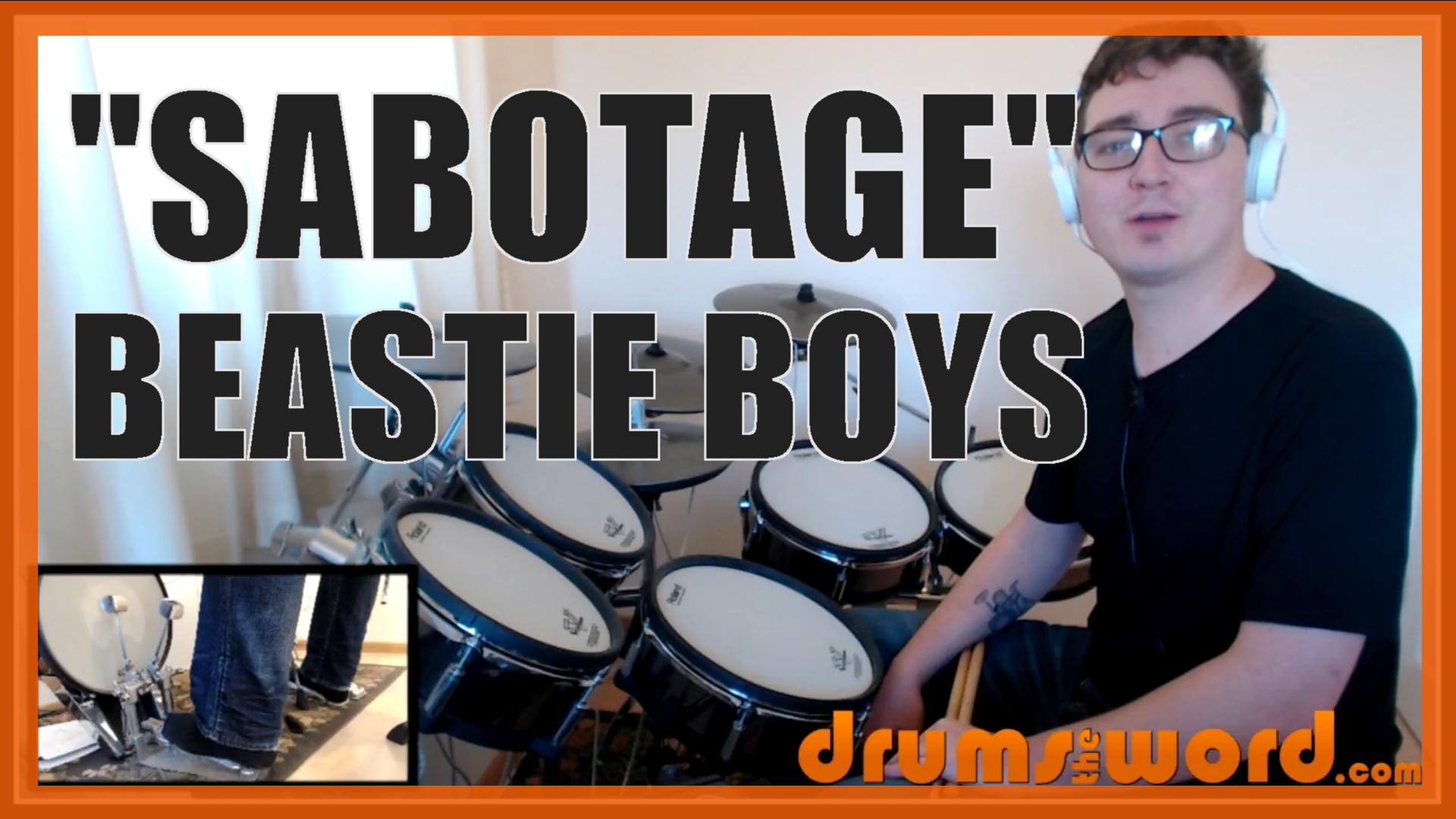 """Sabotage"" - (Beastie Boys) Full-Song Video Drum Lesson Notation Chart Transcription Sheet Music Drum Lesson"
