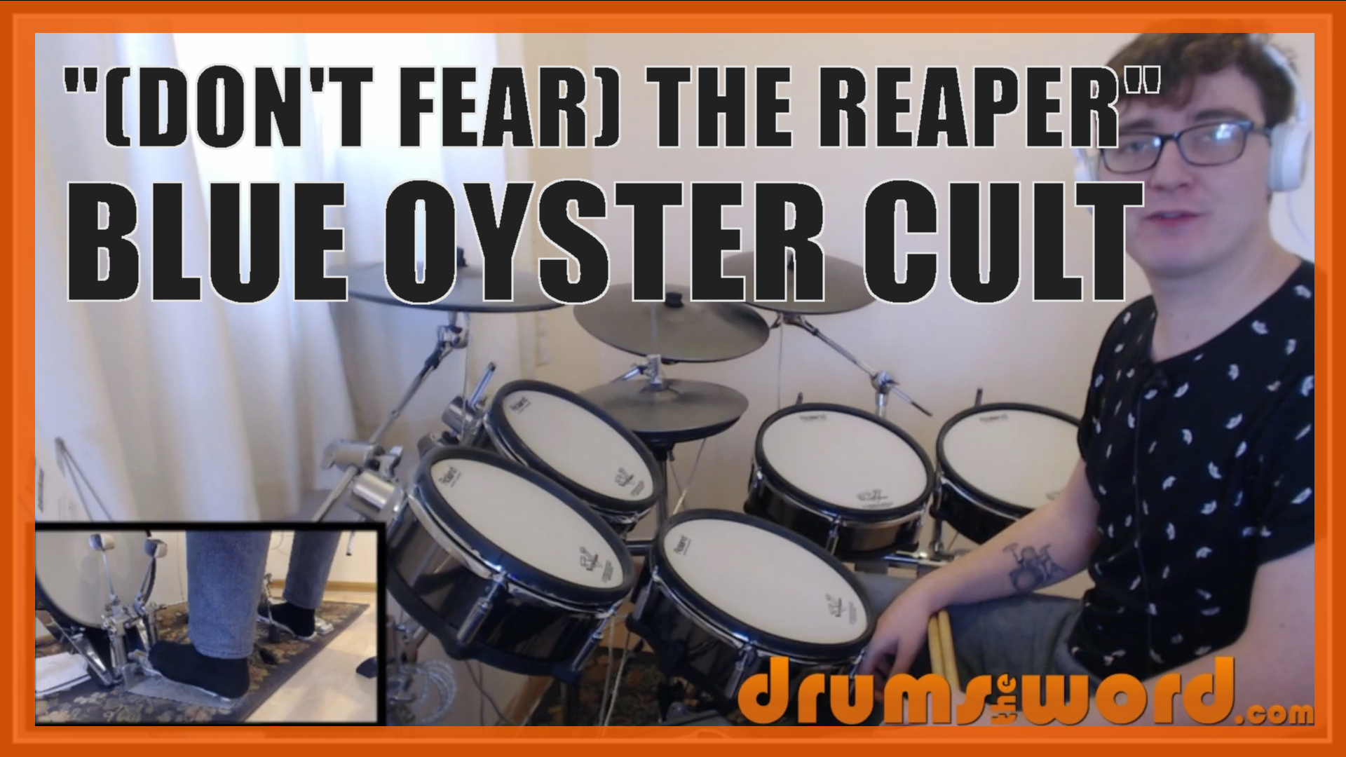 """""""Don't Fear The Reaper"""" - (Blue Oyster Cult) Full-Song Video Drum Lesson Notation Chart Transcription Sheet Music Drum Lesson"""