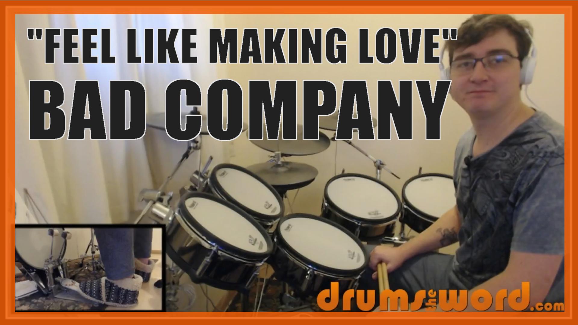 """Feel Like Making Love"" - (Bad Company) Full-Song Video Drum Lesson Notation Chart Transcription Sheet Music Drum Lesson"