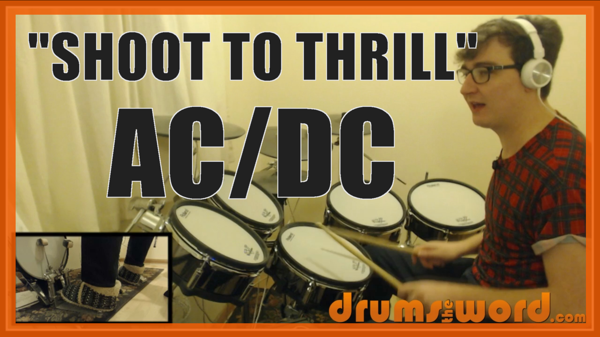 """""""Shoot To Thrill"""" - (AC/DC) Full-Song Video Drum Lesson Notation Chart Transcription Sheet Music Drum Lesson"""