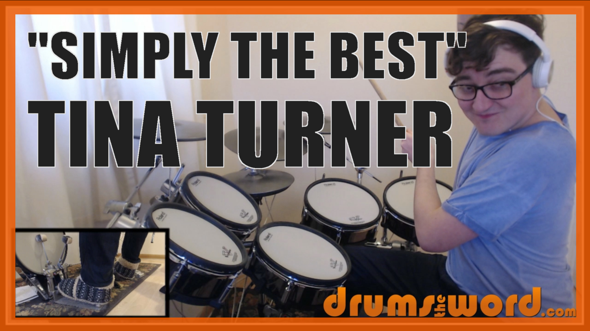 """""""Simply The Best"""" - (Tina Turner) Full-Song Video Drum Lesson Notation Chart Transcription Sheet Music Drum Lesson"""