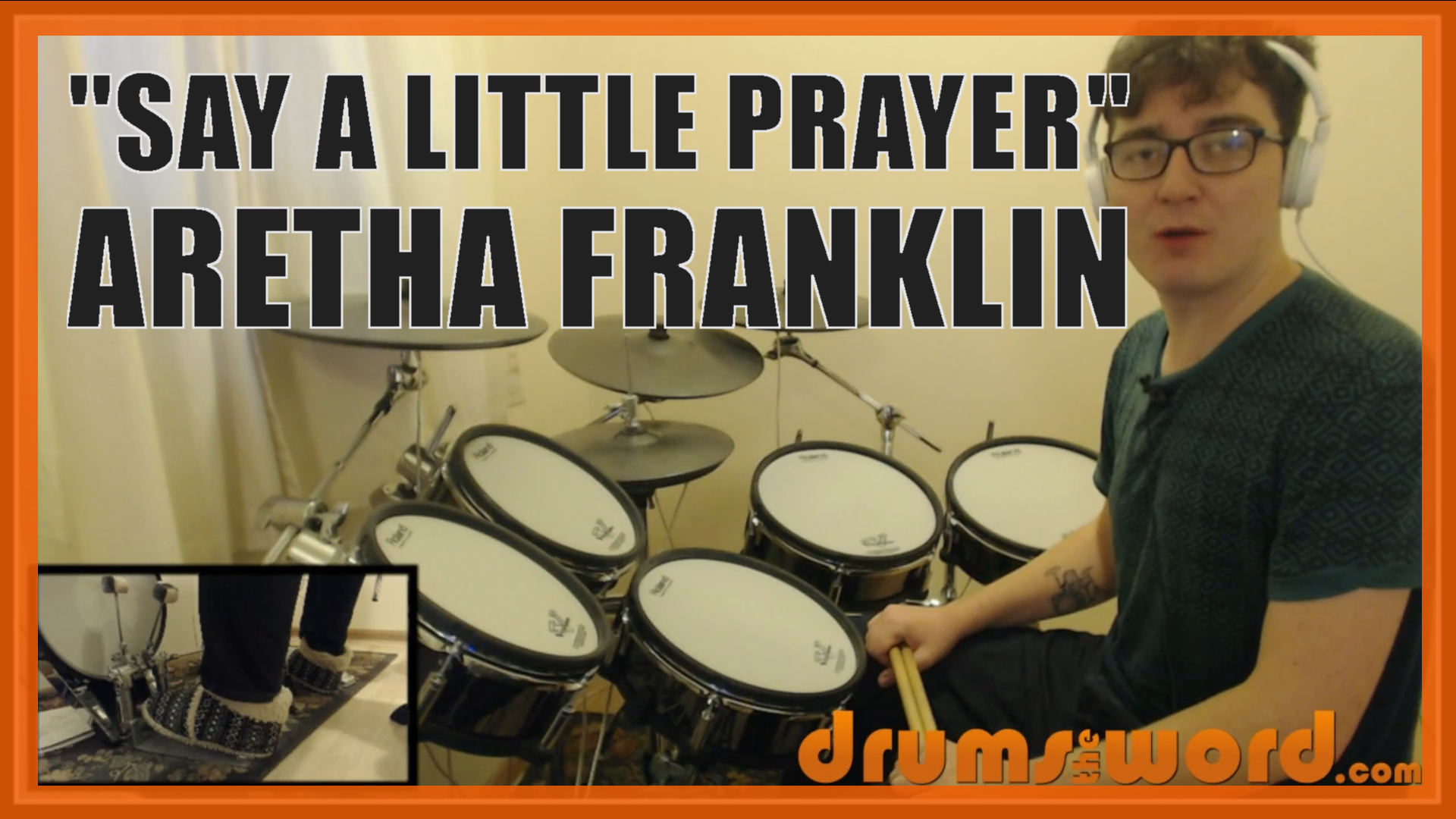 """""""Say A Little Prayer"""" - (Aretha Franklin) Full-Song Video Drum Lesson Notation Chart Transcription Sheet Music Drum Lesson"""