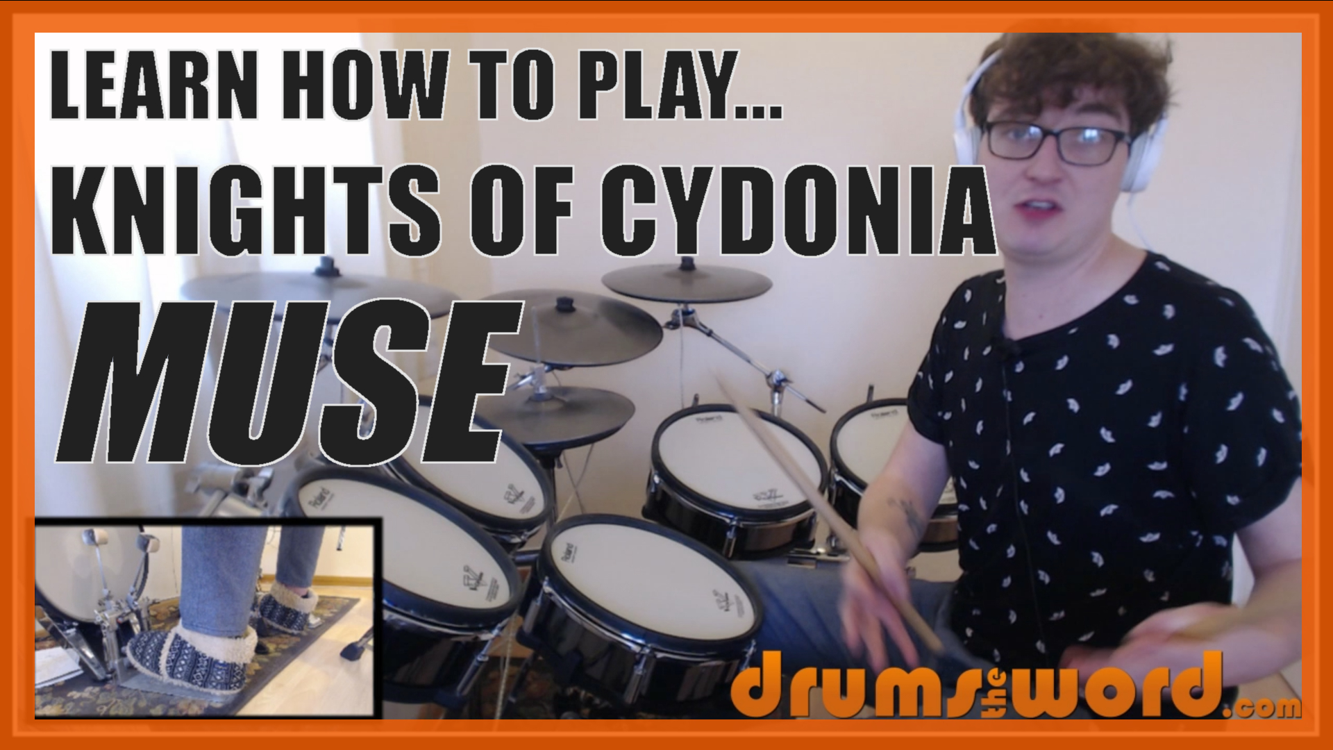 """""""Knights Of Cydonia"""" - (Muse) Full-Song Video Drum Lesson Notation Chart Transcription Sheet Music Drum Lesson"""