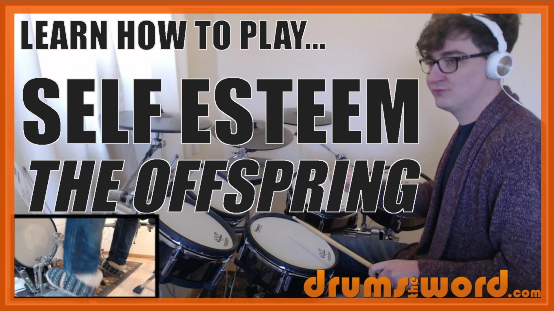 """Self Esteem"" - (The Offspring) Full-Song Video Drum Lesson Notation Chart Transcription Sheet Music Drum Lesson"