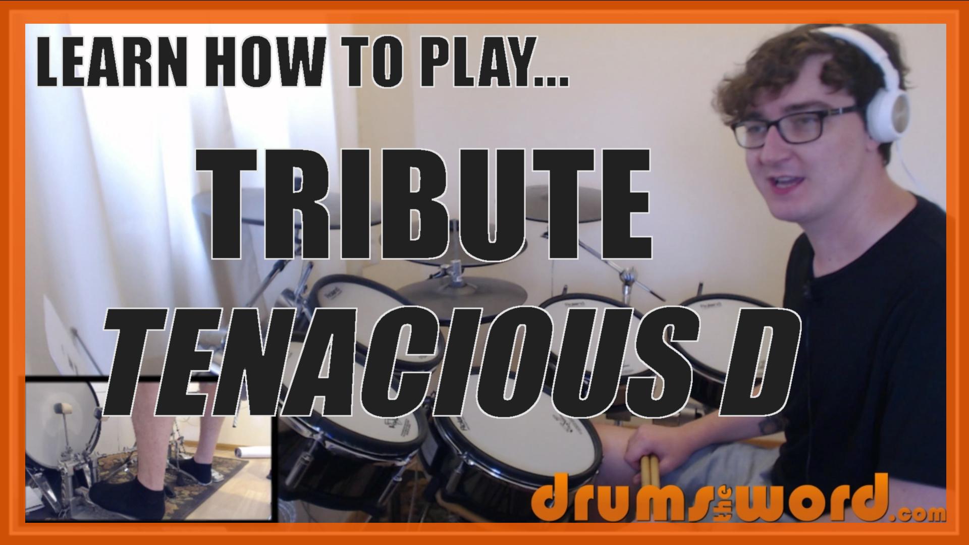 """Tribute"" - (Tenacious D) Full-Song Video Drum Lesson Notation Chart Transcription Sheet Music Drum Lesson"