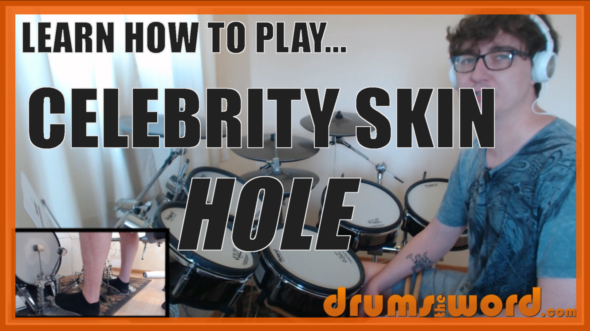 """Celebrity Skin"" - (Hole) Full-Song Video Drum Lesson Notation Chart Transcription Sheet Music Drum Lesson"