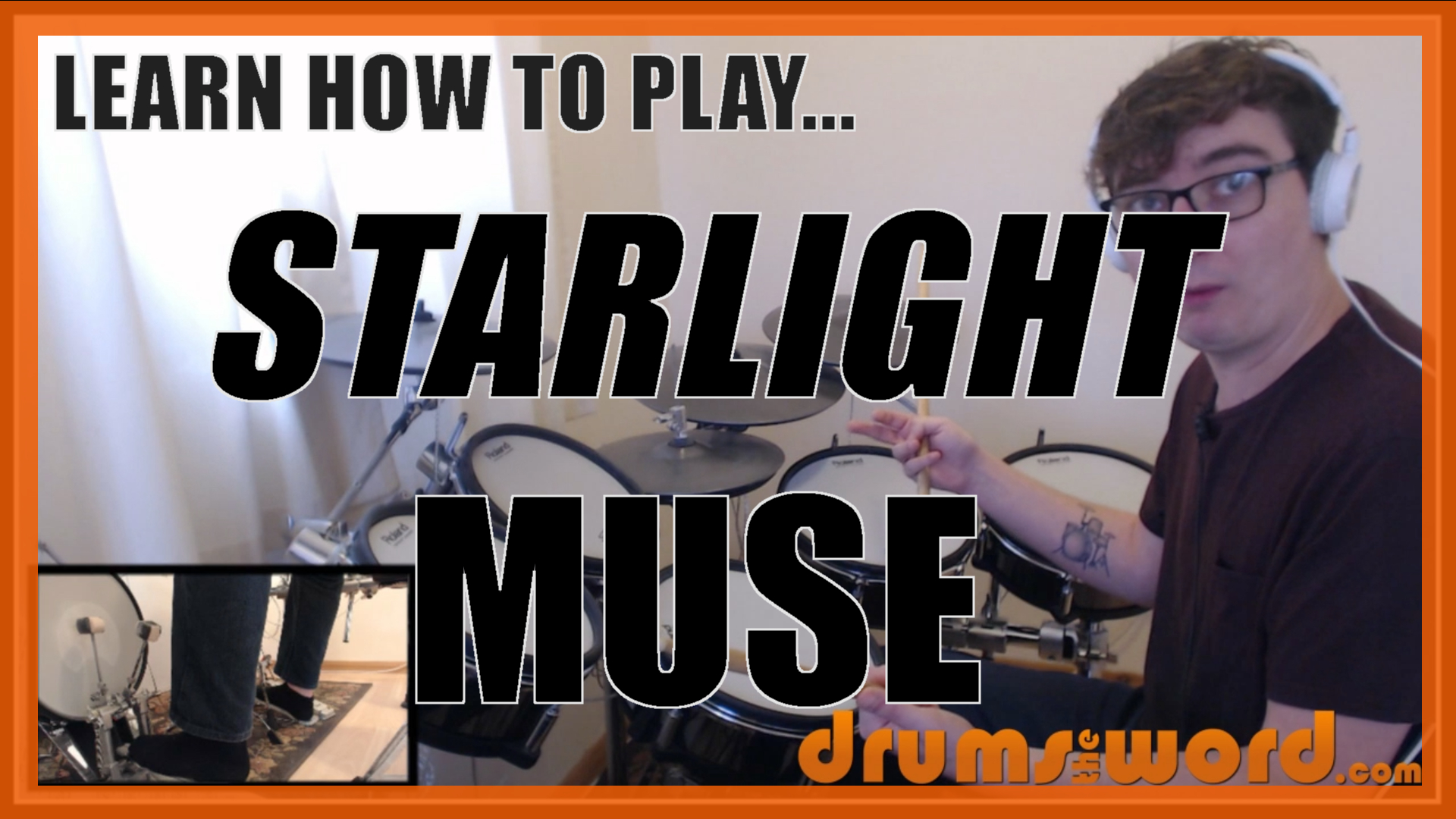 """""""Starlight"""" - (Muse) Full-Song Video Drum Lesson Notation Chart Transcription Sheet Music Drum Lesson"""