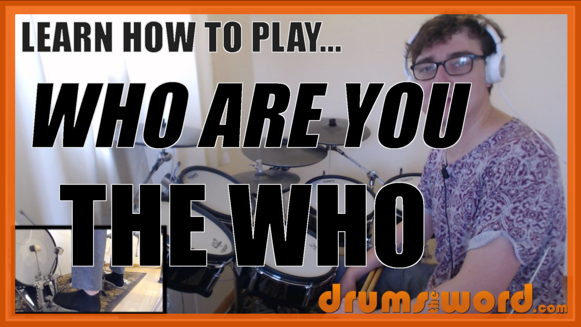 """""""Who Are You"""" - (The Who) Full-Song Video Drum Lesson Notation Chart Transcription Sheet Music Drum Lesson"""