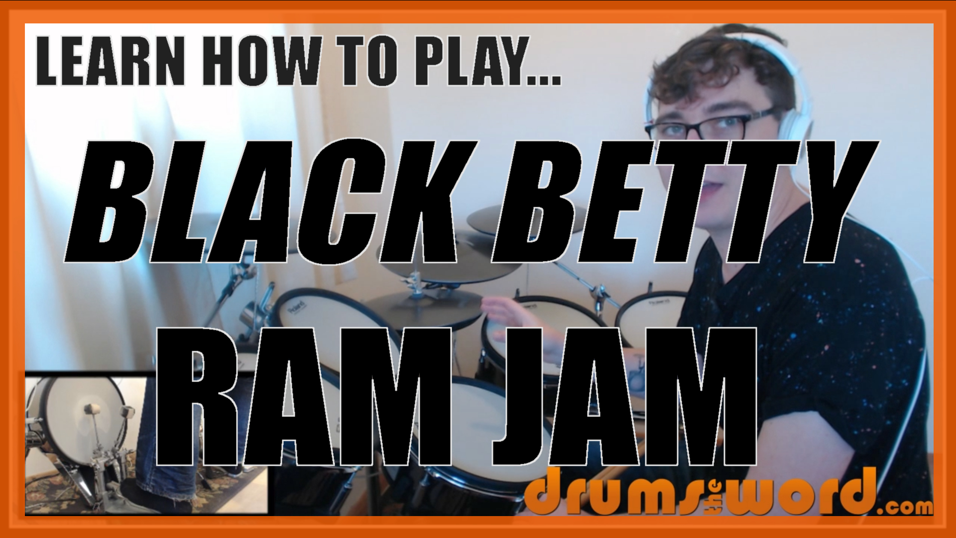 """Black Betty"" - (Ram Jam) Full-Song Video Drum Lesson Notation Chart Transcription Sheet Music Drum Lesson"