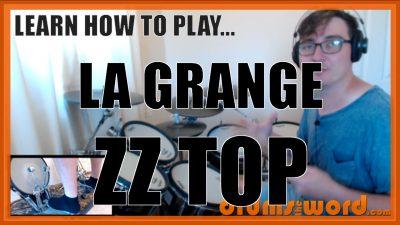 """La Grange"" - (ZZ Top) Full-Song Video Drum Lesson Notation Chart Transcription Sheet Music Drum Lesson"