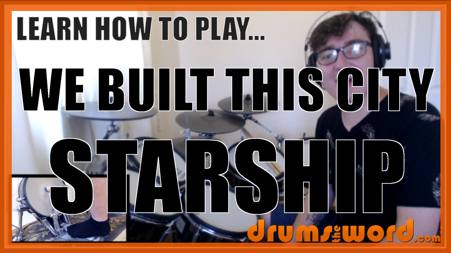 """""""We Built This City"""" - (Starship) Full-Song Video Drum Lesson Notation Chart Transcription Sheet Music Drum Lesson"""