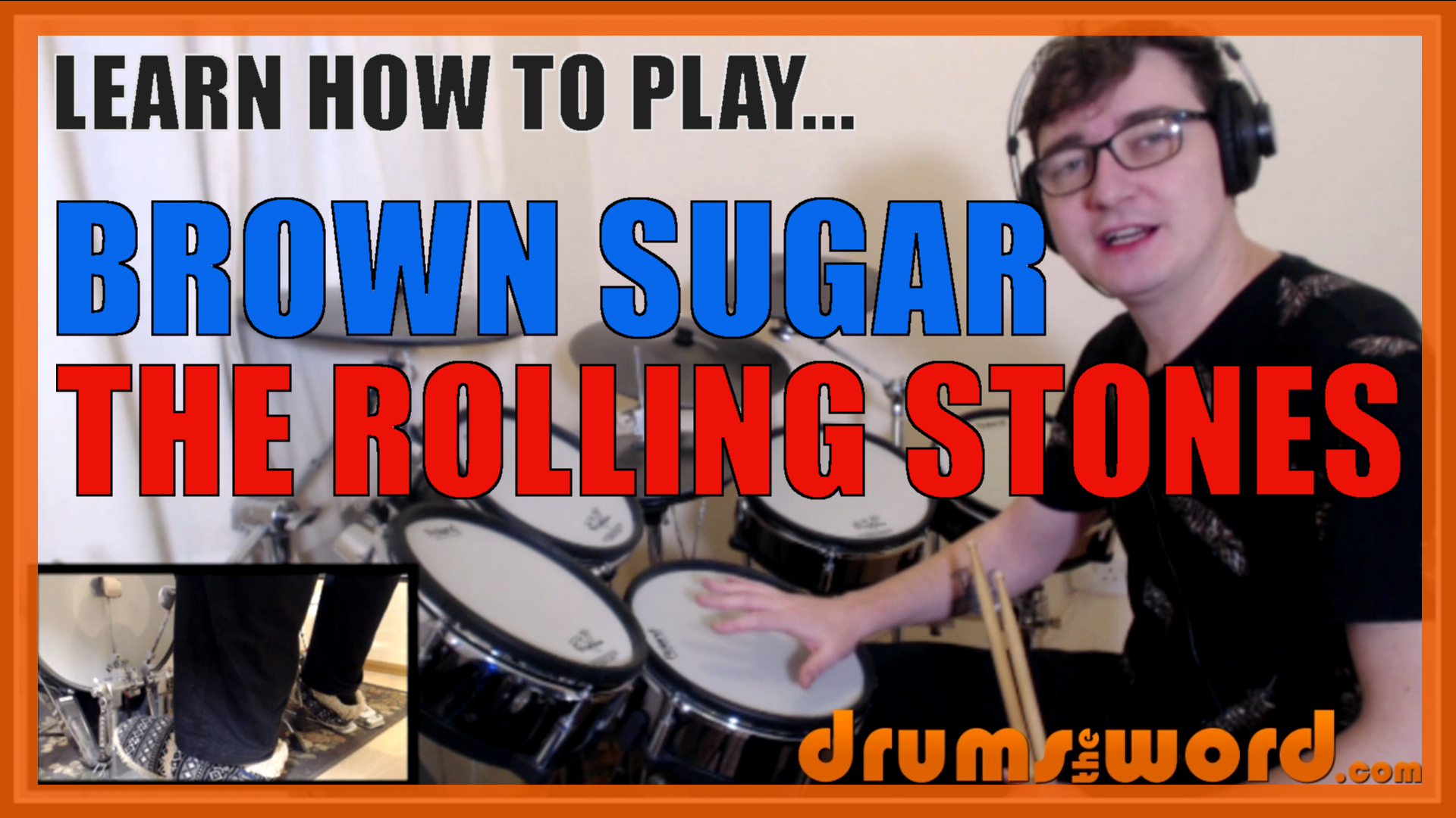 """""""Brown Sugar"""" - (The Rolling Stones) Full-Song Video Drum Lesson Notation Chart Transcription Sheet Music Drum Lesson"""