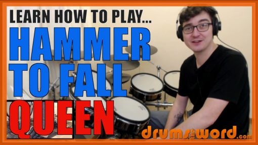 """""""Hammer To Fall"""" - (Queen) Full-Song Video Drum Lesson Notation Chart Transcription Sheet Music Drum Lesson"""